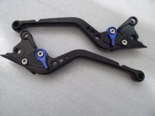 Aprilia DORSODURO (11-15), CNC levers long black/blue adjusters, DB80/DC80